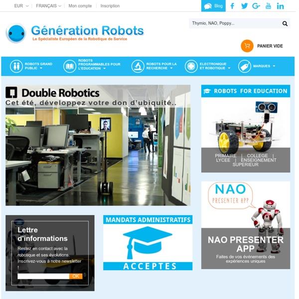 Robot domestique, robot programmable: acheter robot en quelques clics