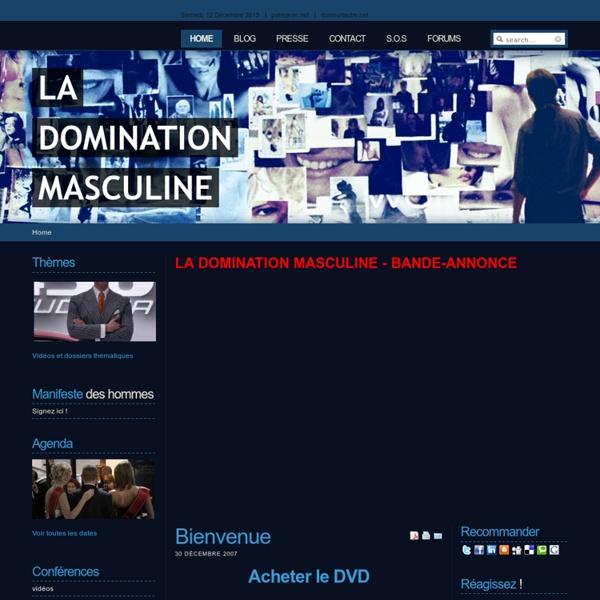 La domination masculine - Bienvenue