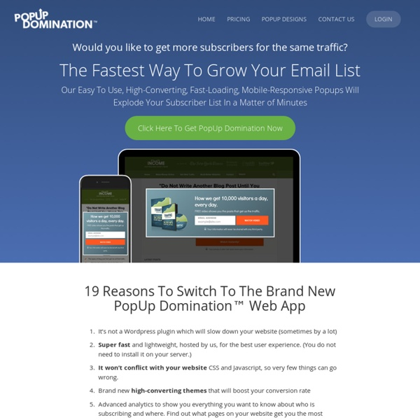 Popup Domination - Get More Subscribers & Make More Money In 2011!