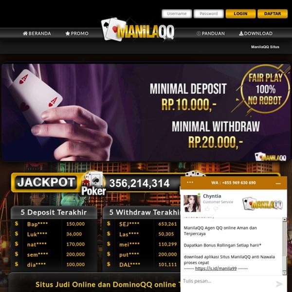 Situs Judi Online dan DominoQQ Terpercaya ManilaQQ