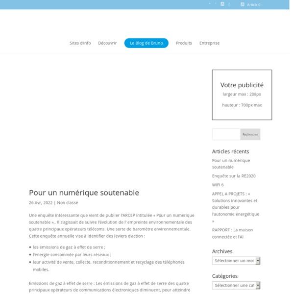 Portail d'information sur la domotique et les objets connectés créé en 1995 - Domotique News