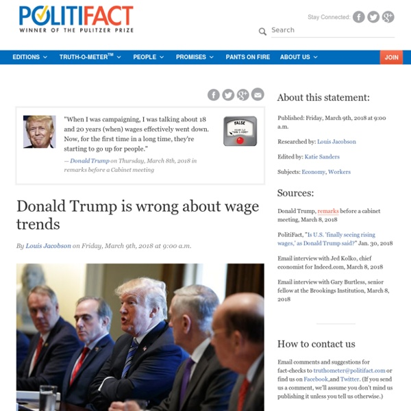Donald Trump is wrong about wage trends