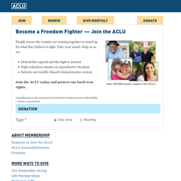 Donate to the ACLU