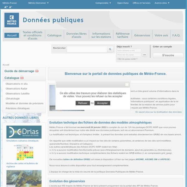 Données Publiques de Météo-France - Accueil