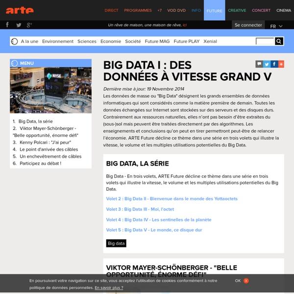 Big Data I : des données à vitesse grand V