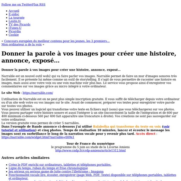 CDDP de l'Oise - Donner la parole à vos images pour créer une histoire, annonce, exposé…