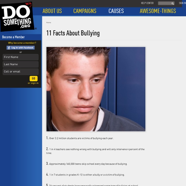 11 Facts About Bullying