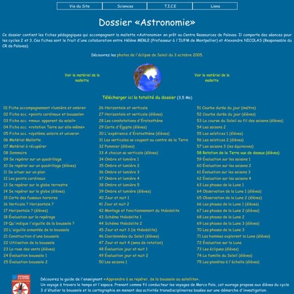 Dossier «Astronomie»