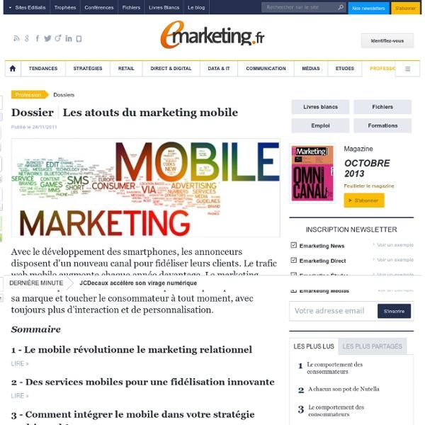 Les atouts du marketing mobile
