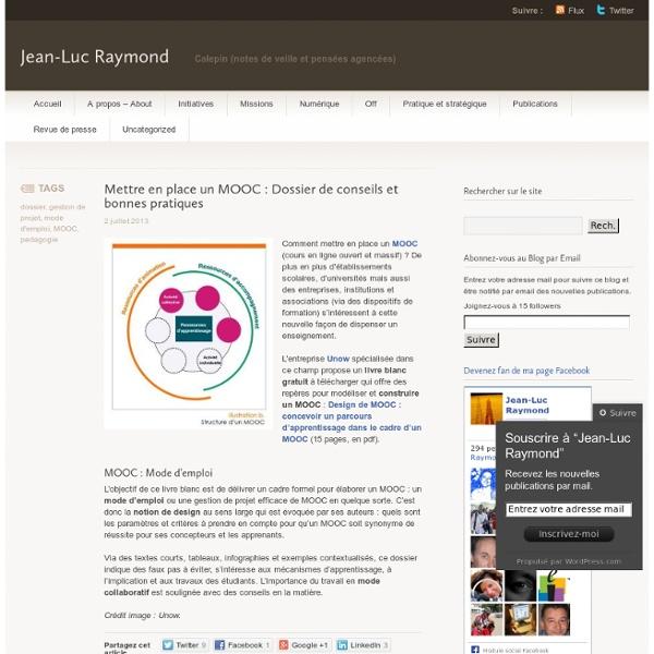 Mettre en place un MOOC : Dossier de conseils et bonnes pratiques