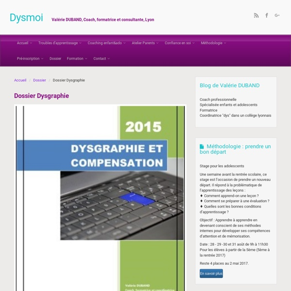 Dossier Dysgraphie – Dysmoi
