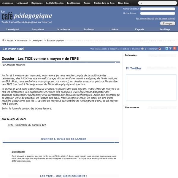 Dossier : Les TICE comme « moyen » de l'EPS