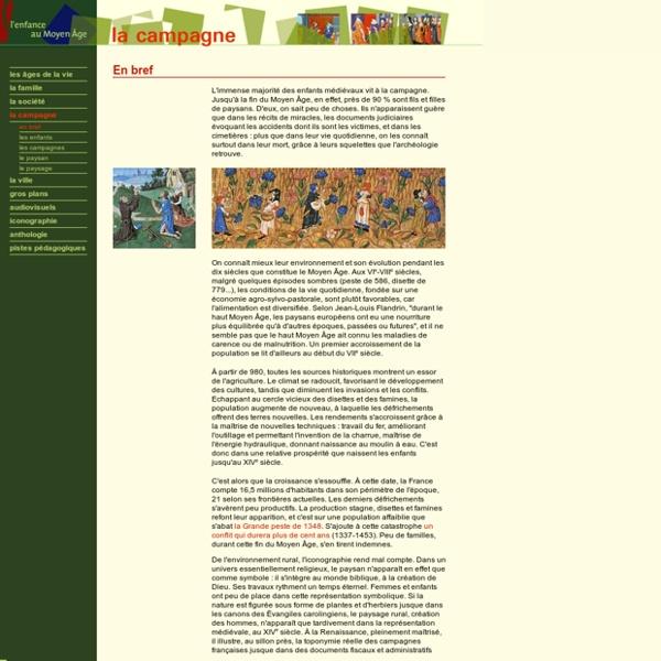 Dossier pédagogique - L'enfance au Moyen Âge - La campagne