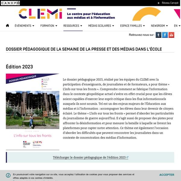 Dossier pédagogique de la Semaine de la presse et des médias dans l'école- CLEMI