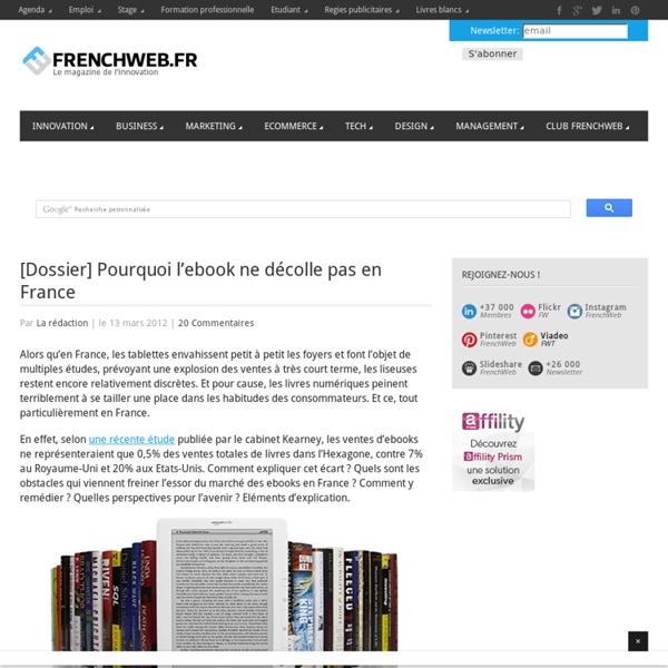 [Dossier] Pourquoi l'ebook ne décolle pas en France