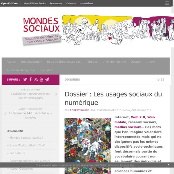 Les usages sociaux du numérique