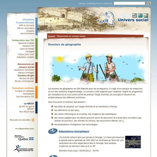 Dossiers de géographie