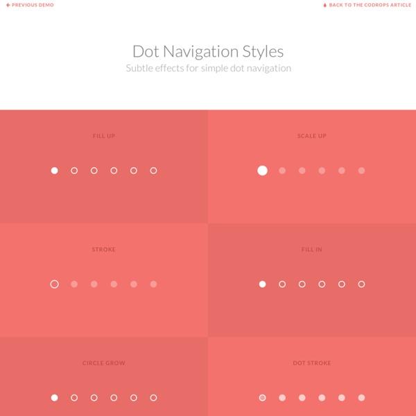 Dot Navigation Styles