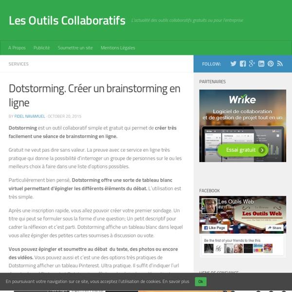 Dotstorming. Créer un brainstorming en ligne