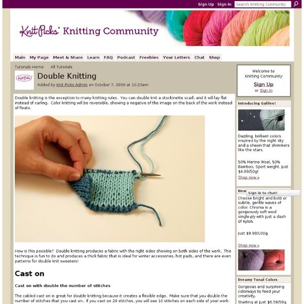 Double Knitting - Knitting Community