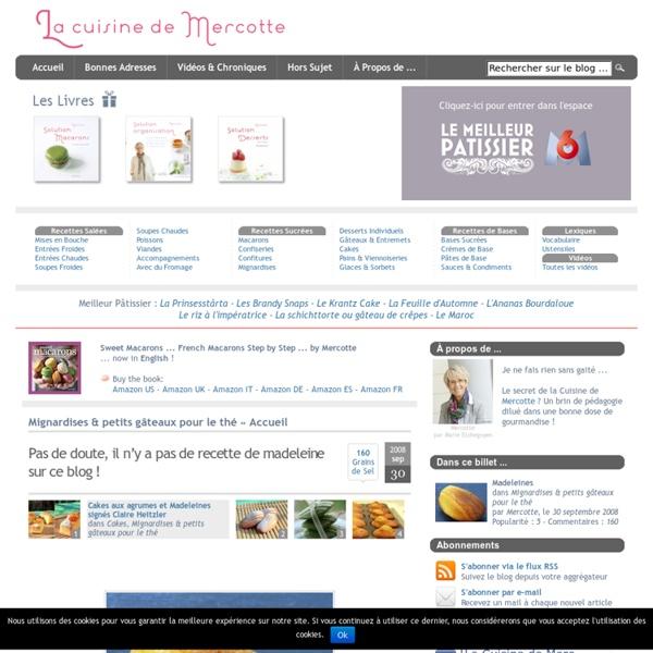 » Pas de doute, il n'y a pas de recette de madeleine sur ce blog