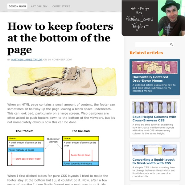 Get down! How to keep footers at the bottom of the page