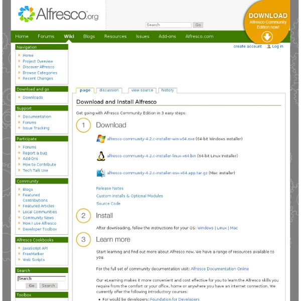 Download Community Edition - AlfrescoWiki