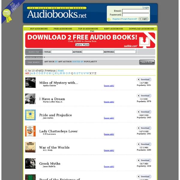 Free Downloadable MP3 Audio Books