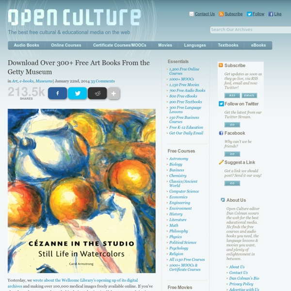 Download Over 250 Free Art Books From the Getty Museum