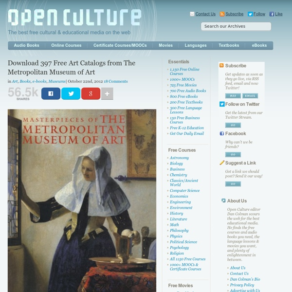 Download 397 Free Art Catalogs from The Metropolitan Museum of Art