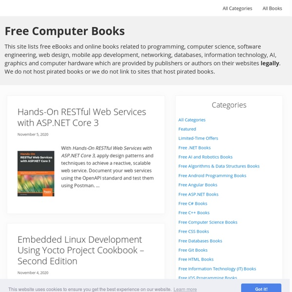 Free Computer Books : IT, Programming and Computer Science