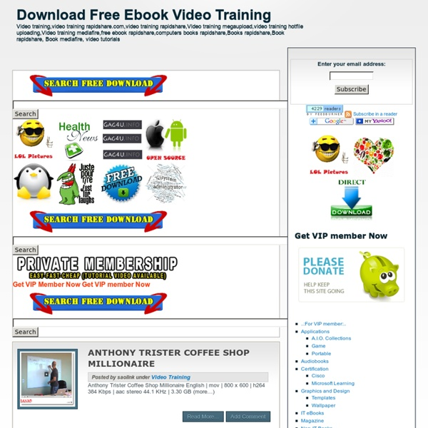 Download Free Ebook Video Training