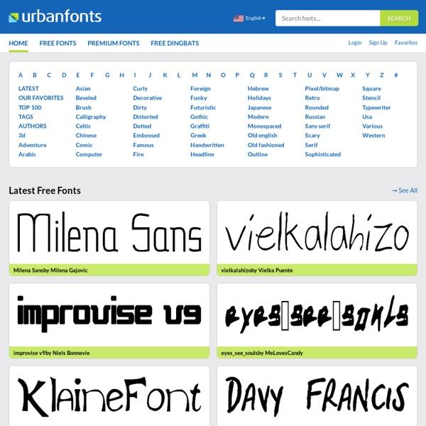 Free Fonts, Cool Fonts - UrbanFonts.com