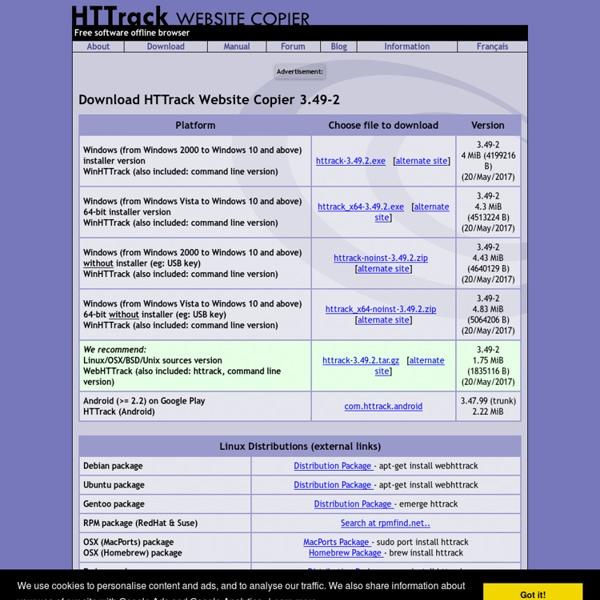 Download HTTrack Website Copier 3.44-1 - HTTrack Website Copier - Offline Browser