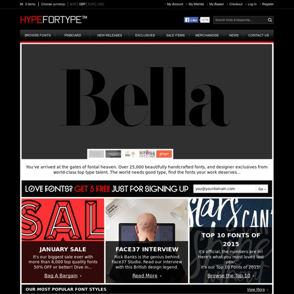 Buy & Freely Download Cool Fonts & Typefaces