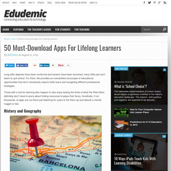 50 Must-Download Apps For Lifelong Learners