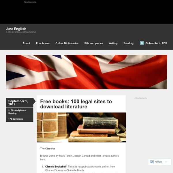 Free books: 100 legal sites to downloadliterature
