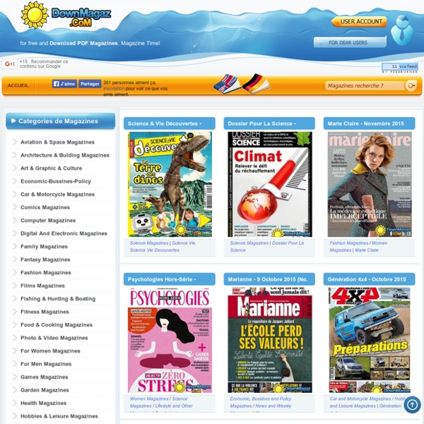 Download magazines free - French Magazines Commumity!