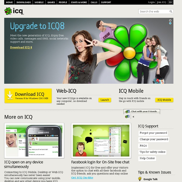 Download ICQ for mobile and switch from costly SMS to FREE messaging!