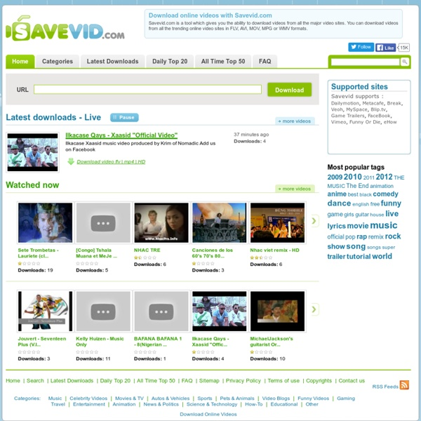 Descargar Videos Online Guardar Directamente y fácilmente en distintos formatos