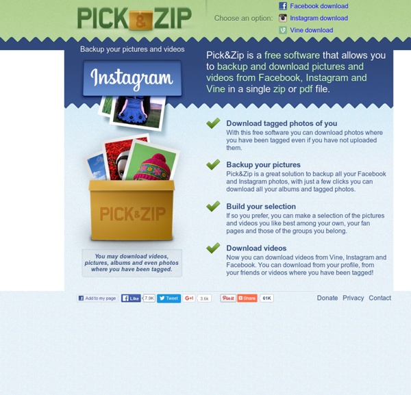 Download Facebook Pictures and Videos - PickNZip   Pearltrees