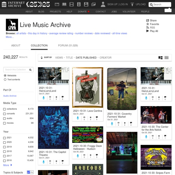 Archives.org - Free Music : Download & Streaming
