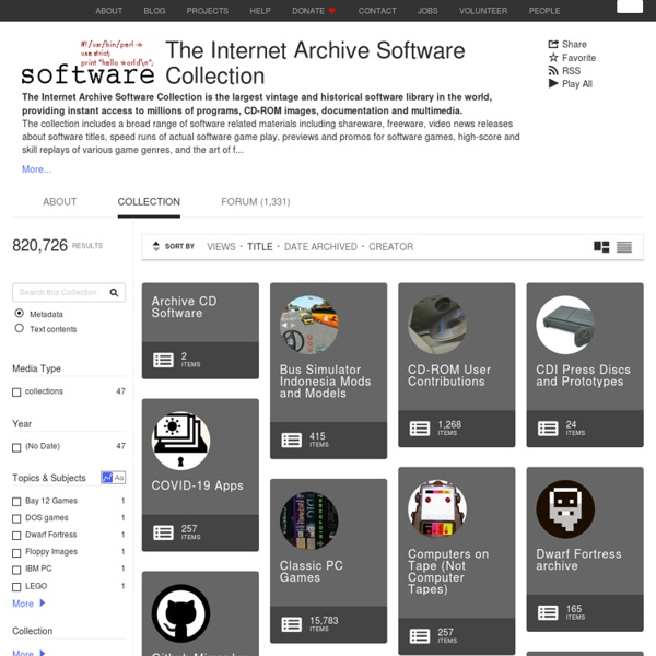 Download & Streaming : The Internet Archive Software Collection : Internet Archive