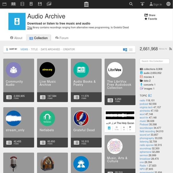 Internet Archive: Audio Archive