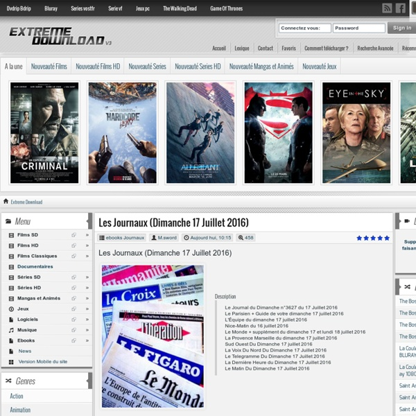 Voici Quelque Sites Torrents. Torrent9: Il est à présent le meilleur site Torrent en français qui propose de téléchargement direct de film et série en français.
