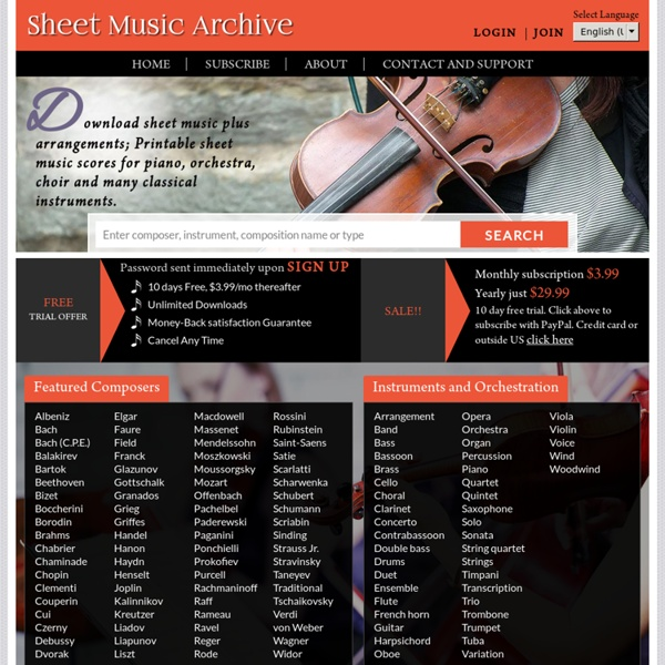 Classical Music Archive Download Sites