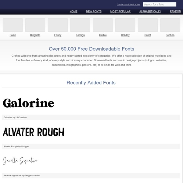 Free Downloadable Fonts, Dingbats and Font Tools at FontRiver.com
