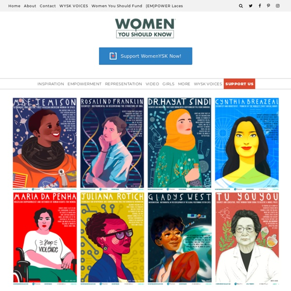 Downloadable STEM Role ModelsPosters Celebrate Women Innovators As Illustrated By Women Artists