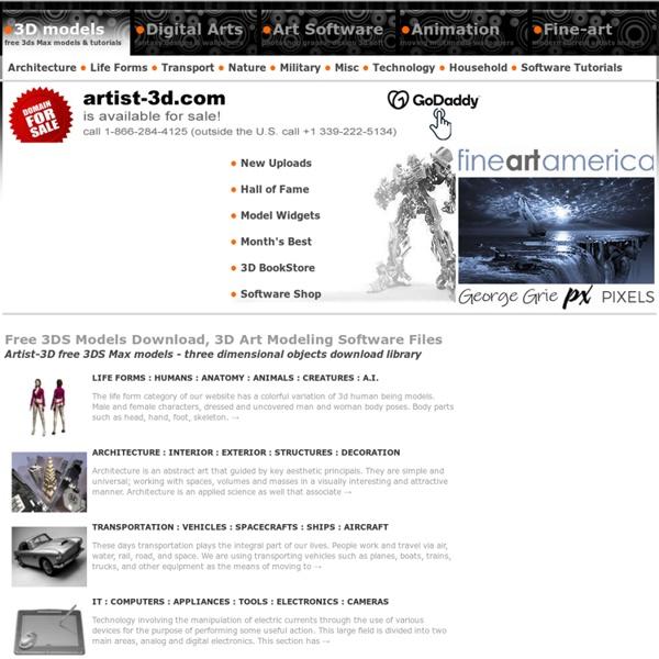 Free 3D Models 3DS Max Artist 3D Modeling Download