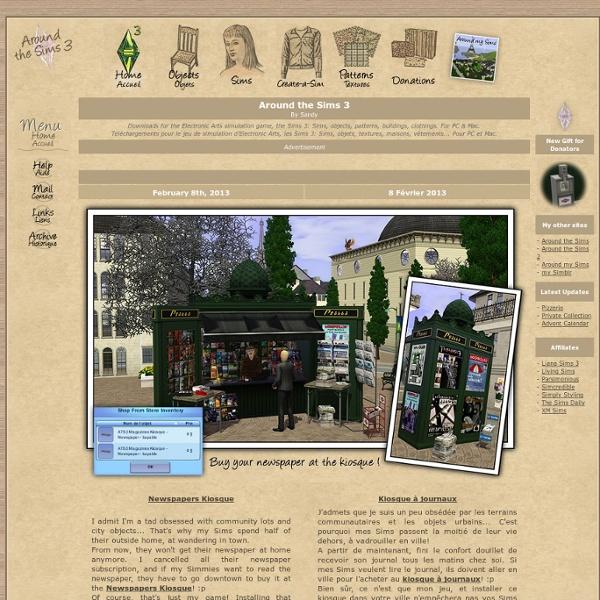 Téléchargements gratuits pour les Sims 3